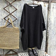 On Sale Newport Black Heavy Linen Dress Stylish Dress Book, Stylish Dresses, Simple Dresses, Chic Outfits, Fashion Outfits, Unisex Fashion, Womens Fashion, Mode Plus, Romper With Skirt