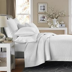 Real Simple® Dune Coverlet in White - BedBathandBeyond.com