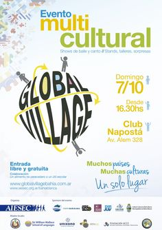 AIESEC welcomes you next October 7th to its 2nd GLOBAL VILLAGE in Bahía Blanca, Argentina Global Village, October, Public, Design Ideas, Inspiration, Culture, Argentina, Biblical Inspiration, Inspirational