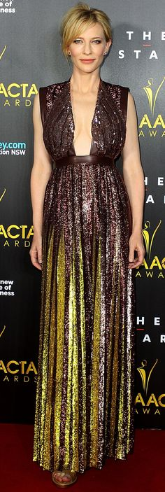 Cate Blanchett /The Oscar nominee glimmered at the AACTA Awards in a sequin-encrusted gown by Givenchy xx
