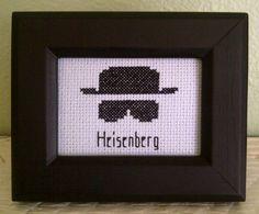 Pattern Funny Cross Stitch Heisenberg Humorous Subversive Breaking Bad Blue Sky ABQ DIY PDF Original