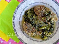 μικρή κουζίνα: Κατσικάκι φρικασέ Kitchen Recipes, Pork, Beef, Cooking, Kale Stir Fry, Meat, Kitchen, Pork Chops, Brewing