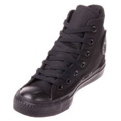 e39f68b2e8e489 The Converse Chuck Taylor All Star Black Monochrome Hi Top casual  basketball shoe goes with everything! It features a sturdy canvas upper  with a classic ...