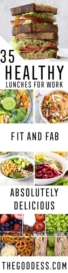 Healthy Lunches for Work - Easy, Quick and Cheap Clean Eating Recipes That You Can Take To Work - Weekly Meals That Are Great for Health Fitness and Weightloss - Low Fat Recipe Ideas and Simple Low Carb Meals That are High In Protein and Taste Great Cold - Vegetarian Options and Weight Watchers Friendly Ideas that Require No Heat - http://thegoddess.com/healthy-lunches-for-work