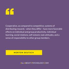 Quote by social psychologist Morton Deutsch; a world renowned scholar within the field of conflict resolution. Visit --> all-about-psychology.com/social-psychology.html for free social psychology information and resources. #psychology #SocialPsychology