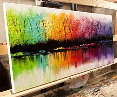 Rainbow forest shoreline