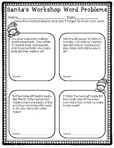 Thanksgiving division word problems math pinterest word december no prep math pack for second grade fandeluxe Gallery