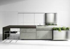 Concrete Kitchen with herbs - Steiniger