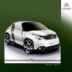 "181 Likes, 3 Comments - | Transportation Design | (@jerome_chabot) on Instagram: ""Citroën concept - City + . @citroenfrance @citroen #car #concept #sketch #sketches #sketching…"""
