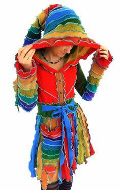 Rainbow Pixie Coat  Fairy Jacket  MEDIUM by Fairytea on Etsy