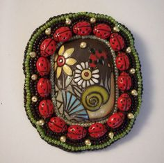 Ladybug Brooch by beadn4fun on Etsy, $37.00