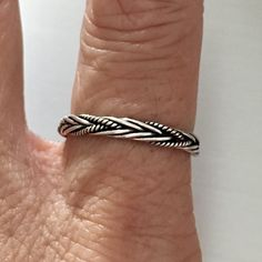 Sterling Silver Bali Rope Braid Ring