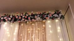 Effective corresponded quinceanera decorations you could try these out Wedding Reception Backdrop, Wedding Stage Decorations, Engagement Party Decorations, Wedding Table, Wedding Day, Decor Wedding, Garage Party Decorations, Diy Quinceanera Decorations, Prom Decor