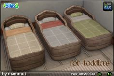 """blackyssims4zoo: """" Simple toddler bed by mammut. Details and download at the Simszoo (free registration required) Find this and a lot more at the Simszoo! Need help with registration? Have a look here! If you play Sims 3 and/or Sims 2, too, why don't..."""