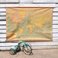 Large Vintage World Map