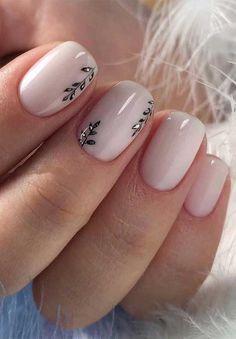 Best Nail Art Designs, Short Nail Designs, Nail Designs Spring, Gel Nail Designs, Nails Design, Neutral Nail Designs, Christmas Nail Art Designs, Christmas Nails, Frensh Nails