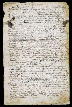 Arthur Rimbaud. Une saison en enfer, Fausse conversion, Avril août 1873 Emouvant de voir l'écriture de Rimbaud.