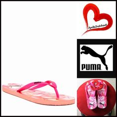 Puma Flats Sandals 💟NEW WITH TAGS💟  Puma Thin Flip Flops Flat Sandals    * Thong toe strap  * Printed logo footbed  * Rubber 'jelly' flexible straps & cushioned soles   * Water resistant  * Open toe & slip on style  * True to size   Material: Rubber upper & EVA flat sole Color: Medium Pink Floral combo Item#P91900  🚫No Trades🚫 ✅ Offers Considered*✅  *Please use the blue 'offer' button to submit an offer. Puma Shoes Sandals