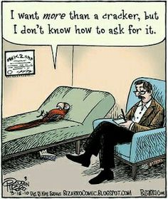 A little bit of therapy humor for this (All kidding aside, therapy DOES help in expressing yourself and your needs better! Funny Puns, Funny Cartoons, Funny Comics, Funny Quotes, Funny Stuff, Cartoon Jokes, Funny Things, Random Things, Mental Health Humor