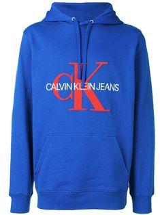CALVIN KLEIN JEANS CALVIN KLEIN JEANS LOGO PRINT HOODIE - BLUE.   calvinkleinjeans  cloth 9451ead025