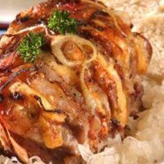 Vepřová pečeně netradičně Pork Tenderloin Recipes, Pork Recipes, Cooking Recipes, Good Food, Menu, Chicken, Dinner, Breakfast, Health
