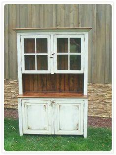 Want this amish handmade reclaimed barnwood hutch!!!