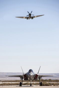 A Supermarine Spitfire is flown over an at the newly renamed Air Force Test Center at Edwards AFB, California, on September as part of a Battle of Britain commemoration ceremony. Military Jets, Military Aircraft, Fighter Aircraft, Fighter Jets, The Spitfires, Supermarine Spitfire, Royal Air Force, War Machine, Lightning