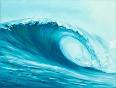 Curling Wave series 6 (wave, barrel, tube) OceanArtStudio