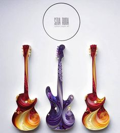 beautifully made quilling guitars