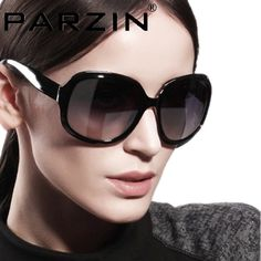 Parzin 2014  Women Sunglasses Gradient Polarized Sun Glasses Vintage Big Box Glasses shades  With Box black 6216 $53.99