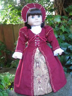 Renaissance Gown for your American Girl doll by CarmelinaCreations