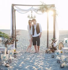 Rustic Beach Wedding Canopy at Hotel Del Coronado.Arc de Belle's Sherwood Forest Canopy 855-332-3553 Photo by Bryan N Miller Photography