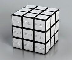 El cubo de Rubik en Braille// Braille Rubik's cube #awesome