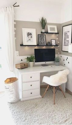 Cozy Room, Cozy Room Decor, Study Room Decor, Redecorate Bedroom, Bedroom Interior, Bedroom Design, Bedroom Decor, Aesthetic Room Decor, Apartment Decor