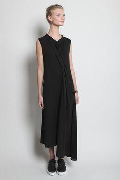 Yojhi Yamamoto. Black dress.