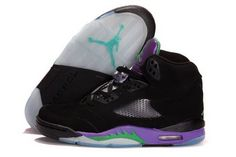 2013 New Nike Air Jordan 5 V Mens Shoes Black Purple Promo Code Jordan V 09bea8067