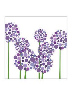 purple allium wall art