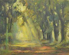 Prześwit 40x50 - oil on canvas