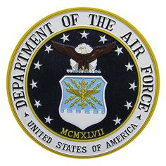 Department of the Air Force Seal Podium Plaque #USAF 2012 $97.95 from www.militaryplaques.com/air-force