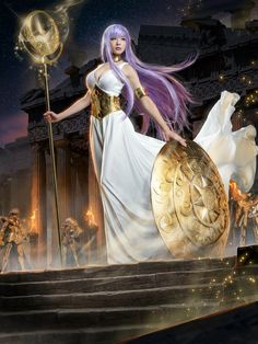 Saori Kido/Athena Cosplay Saori Kido/Athena of Saint Seiya by Momoko