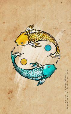 fish yin yang-tattoo design    http://johngiannis27.deviantart.com/art/fish-yin-yang-311643115
