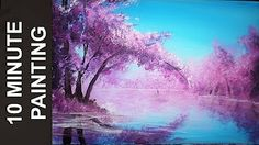 cherry blossom acrylic painting tutorial - YouTube