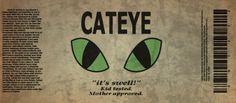 Cateye label by ~emptysamurai on deviantART