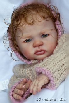 Reborn Baby Girl Doll Prototype Kiran by Danielle Zweers  Love the hair!