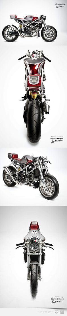 Ducati 749 Cafè Racer by South Garage. This is one of the sickest bikes I've ever seen.