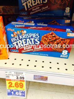 Kroger: Kellogg's Rice Krispies Treats 8ct a sólo $0.19  http://www.cuponesparanosotras.com/2014/06/kroger-kelloggs-rice-kripies-treats-8ct.html