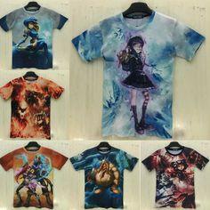 >> Click to Buy << 2015 men/women t shirt anime LOL/Dota 2/ cartoon 3d print tshirt brand fitness crossfit camisetas masculina hombre tee shirts #Affiliate
