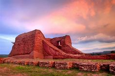 Mission ruins, Pecos National Monument, north east of Santa Fe, New Mexico, USA