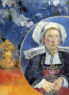 Paul Gauguin - Post Impressionism - La belle Angèle - Beautiful Angèle - 1889