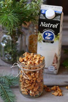 Popcorn au caramel salé | Natrel
